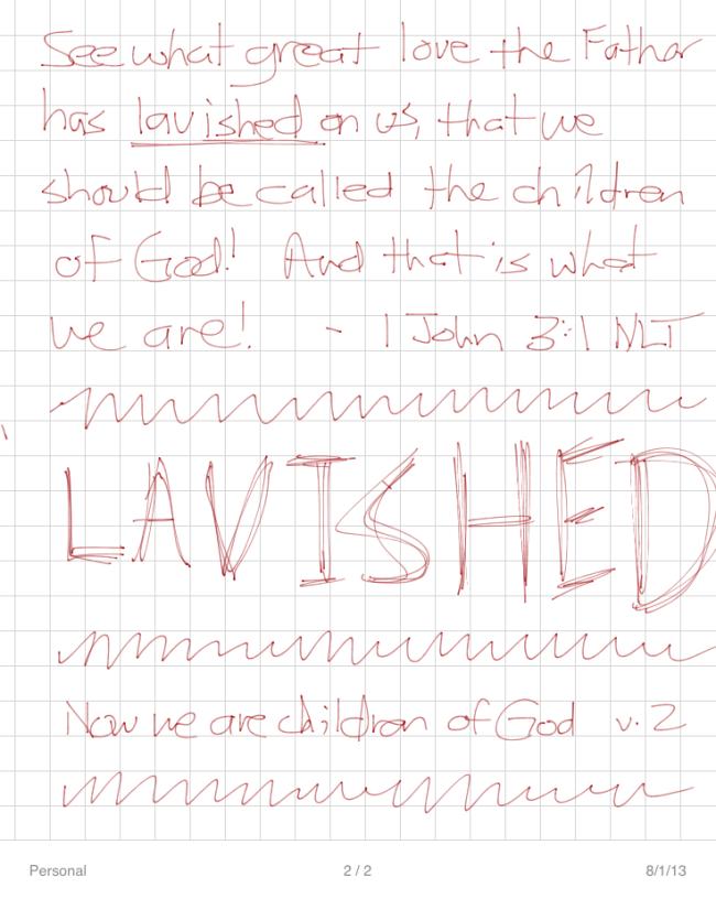 Lavished