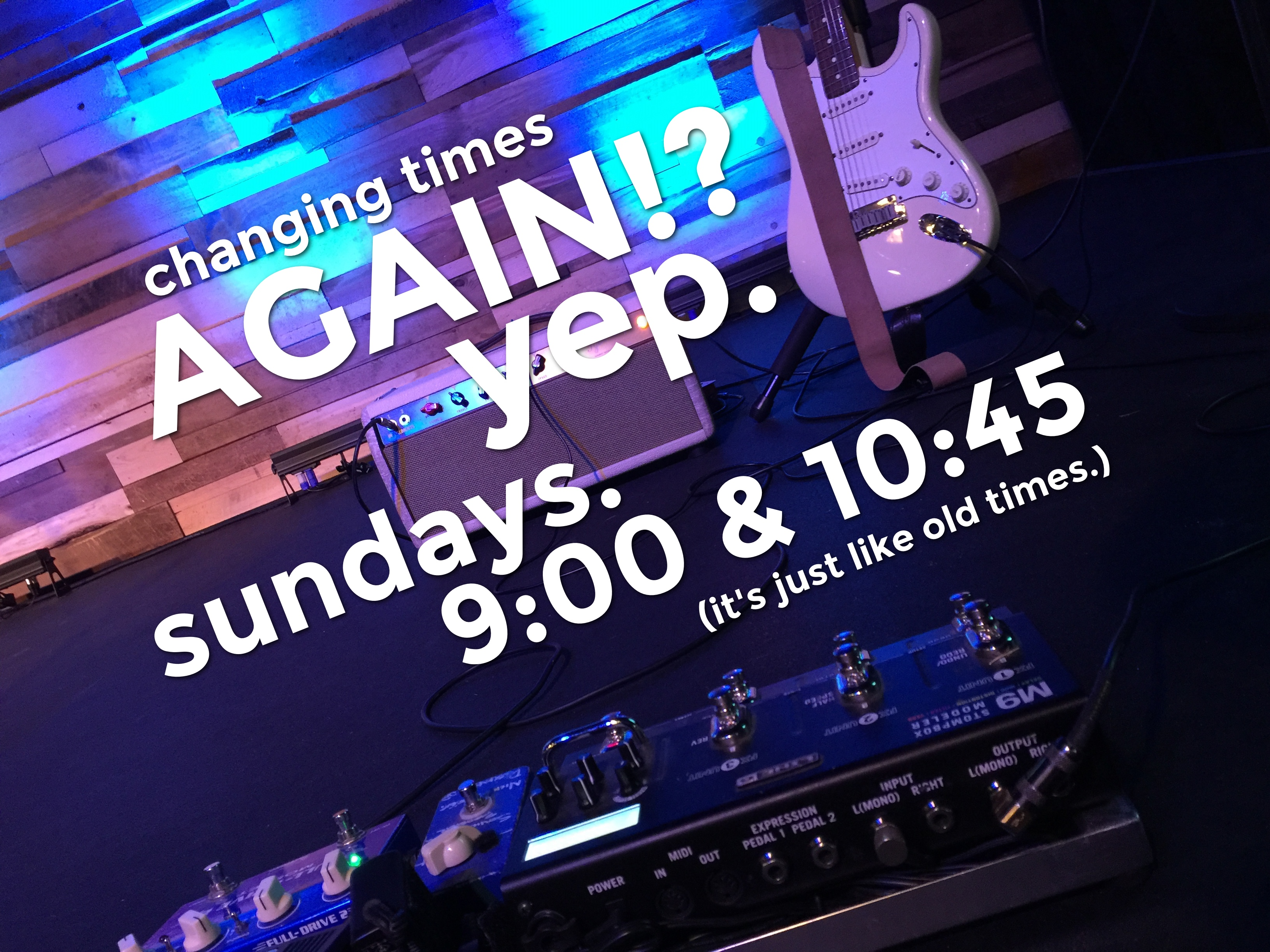 Grace Hills Church meets at 9:00 and 10:45 am on Sundays