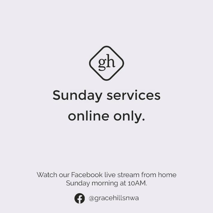 We are Meeting Online Only This Sunday