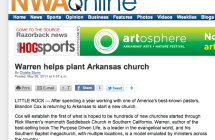 Arkansas Democrat-Gazette Story on Rick Warren and Grace Hills Church