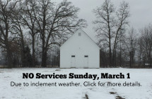 Services Canceled, Sunday, March 1, 2015