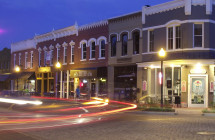 Bentonville Square at Night
