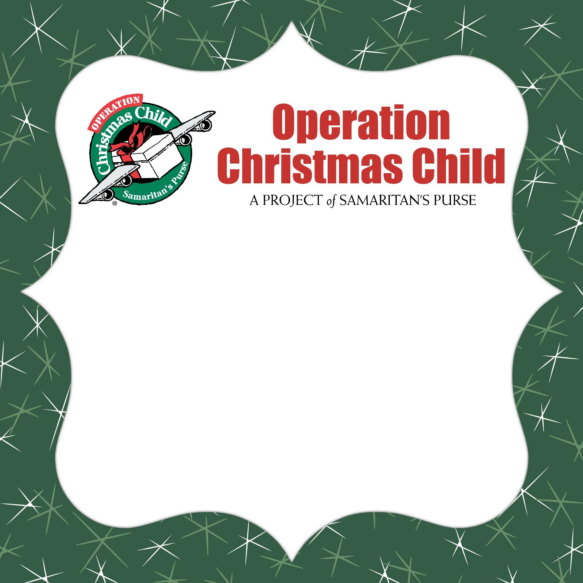 Deadline for Operation Christmas Child Shoebox Donations   November ...